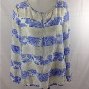 NWT New York & Co. Women's Top Medium Floral LS
